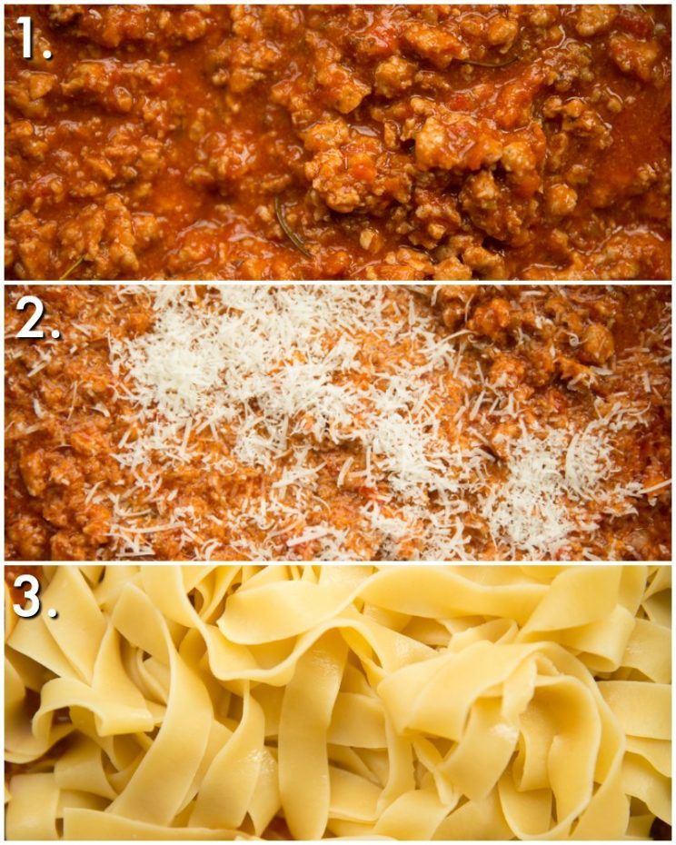 How to make sausage ragu with pappardelle - 3 step by step photos