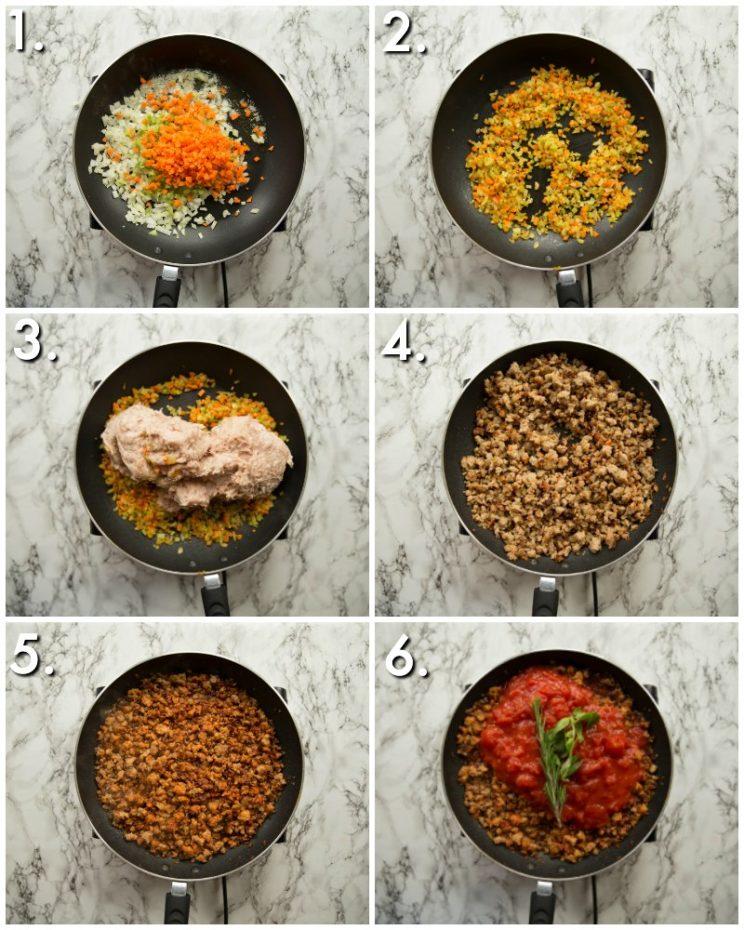 How to make sausage ragu - 6 step by step photos