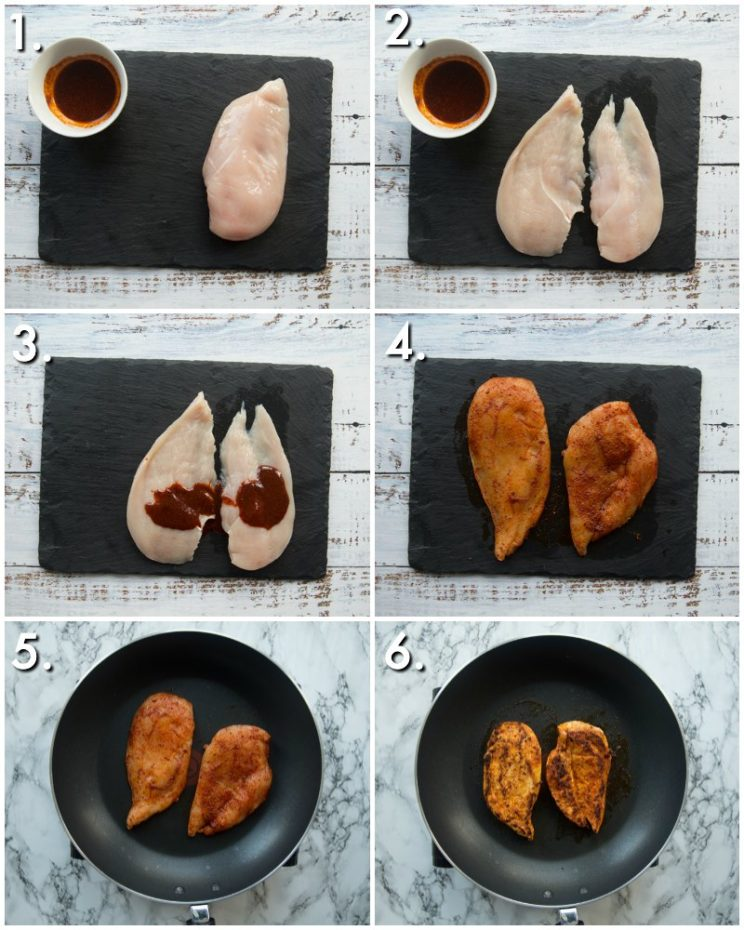 How to make spicy chicken breast - 6 step by step photos