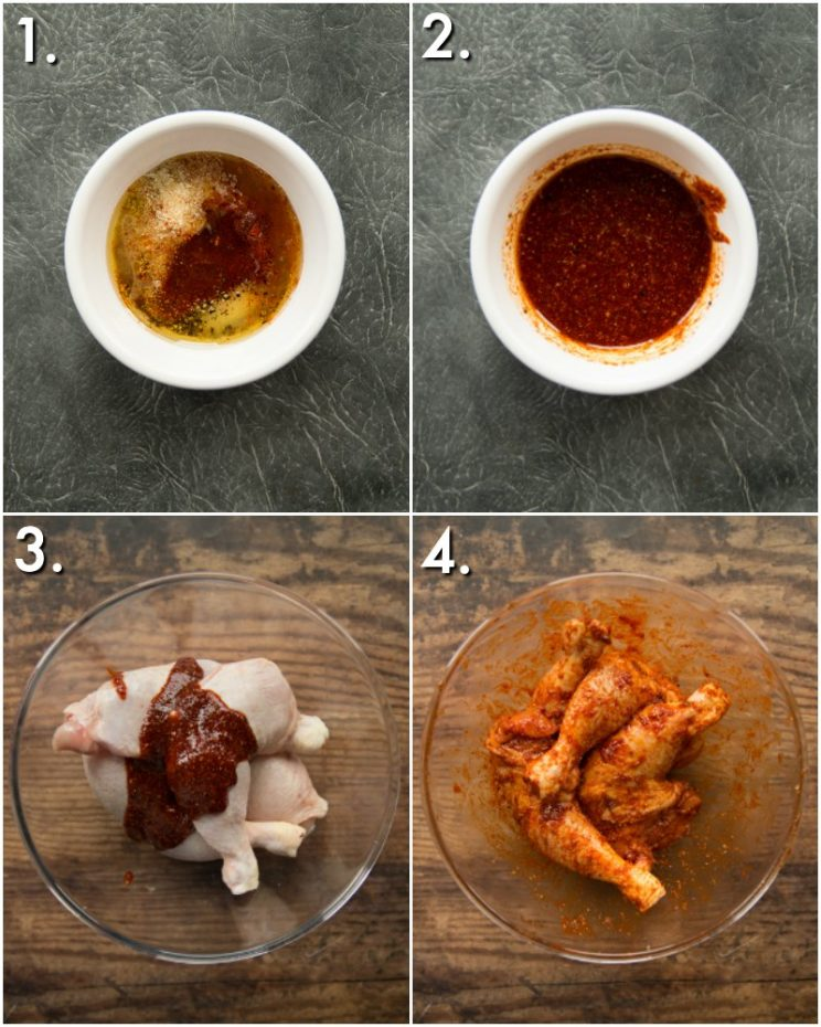 How to marinade chicken legs - 4 step by step photos