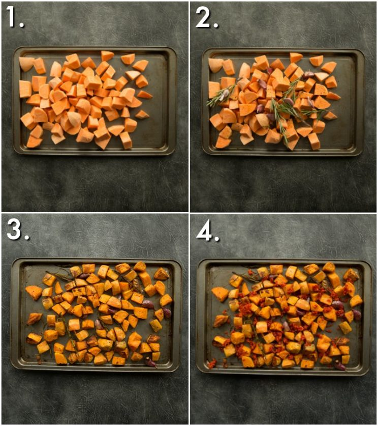 How to make the best roasted sweet potatoes - 4 step by step photos