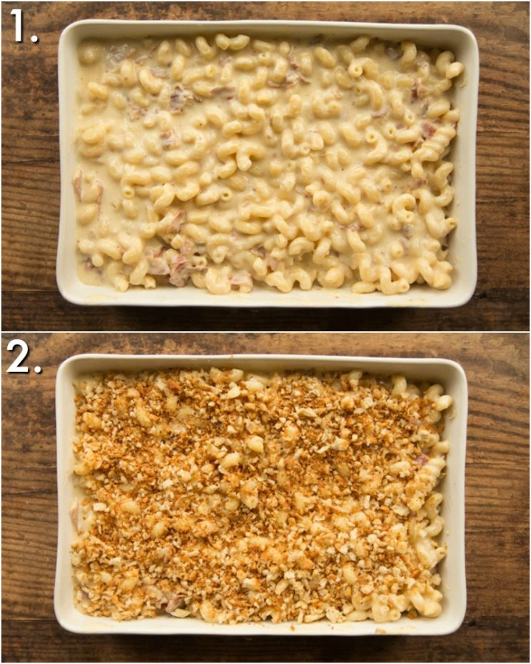 How to make baked brie mac and cheese - 2 step by step photos