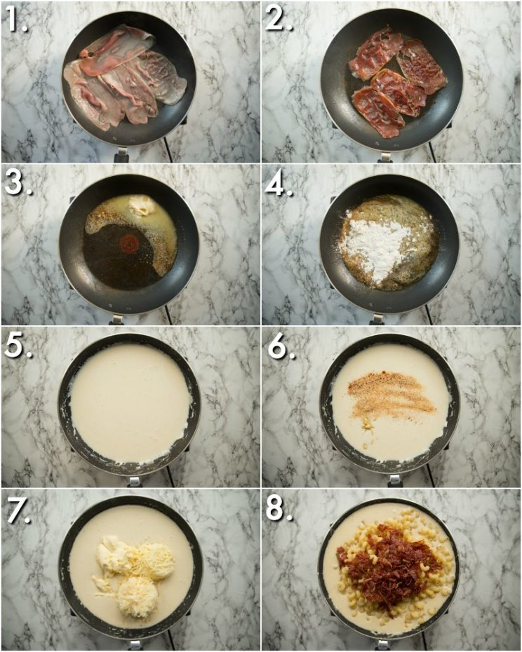 How to make brie mac and cheese - 8 step by step photos