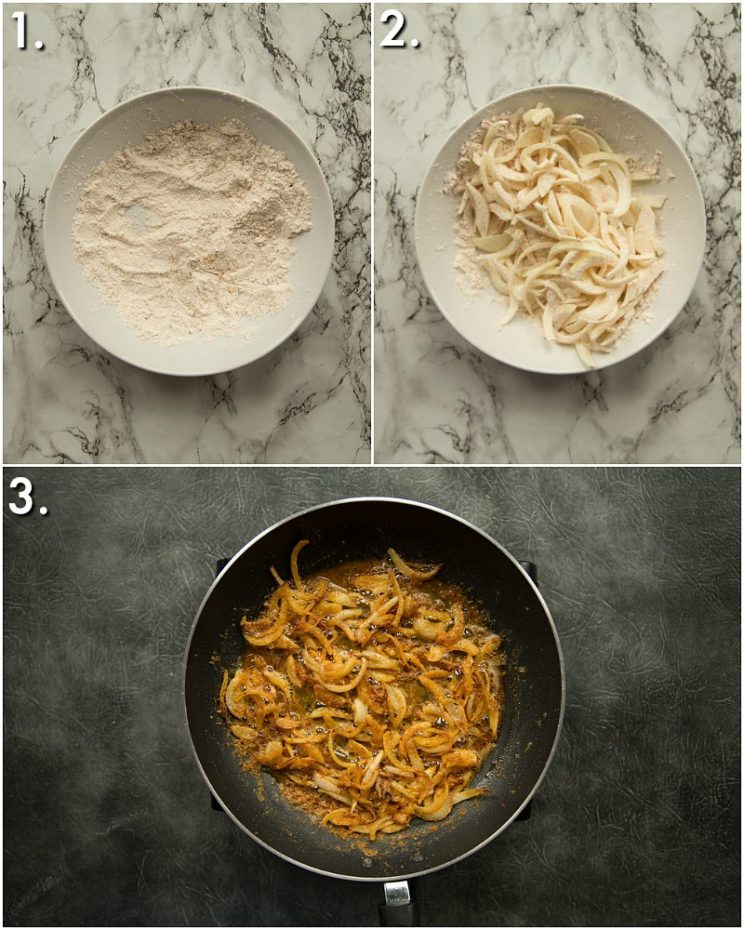 How to make crispy fried onions - 3 step by step photos
