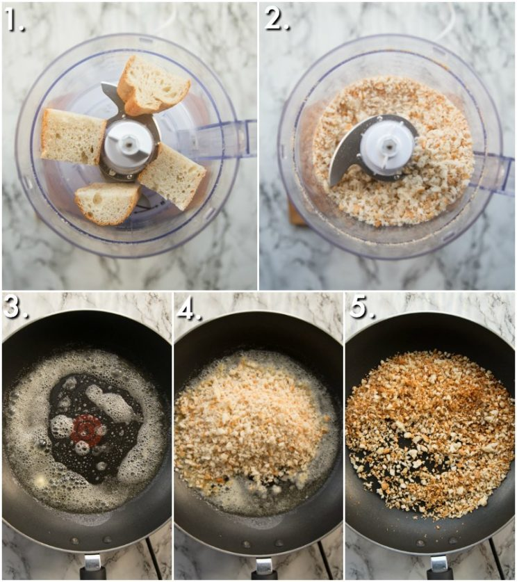 How to make toasted breadcrumbs - 5 step by step photos
