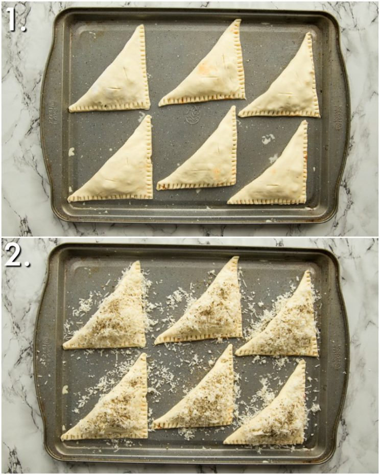 How to cook pizza pockets - 2 step by step photos