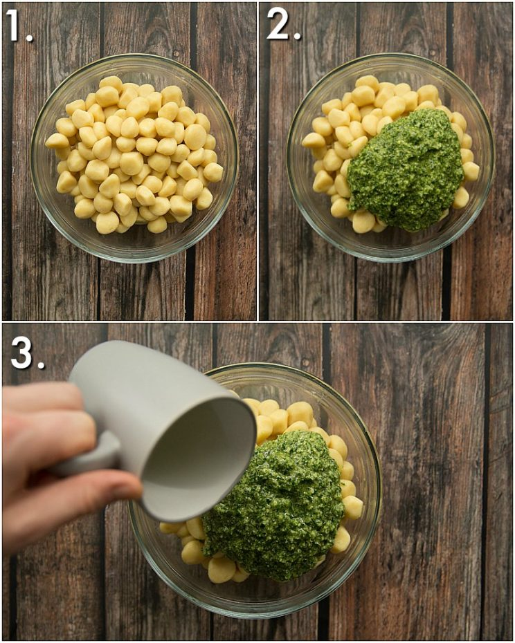 How to make pesto gnocchi - 3 step by step photos