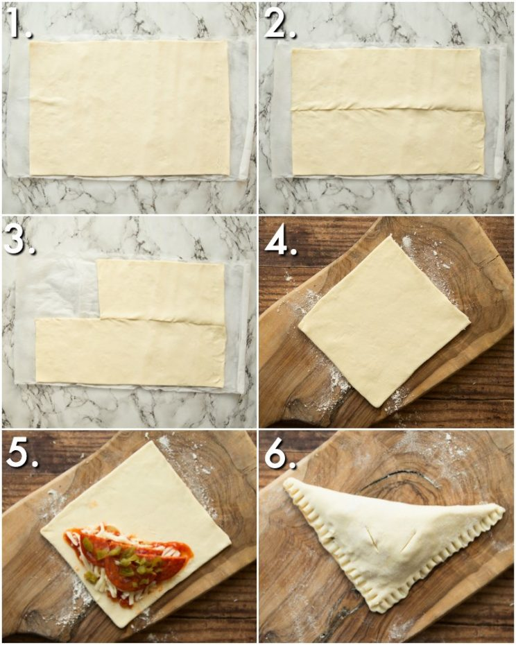 How to make Pizza Pockets - 6 step by step photos