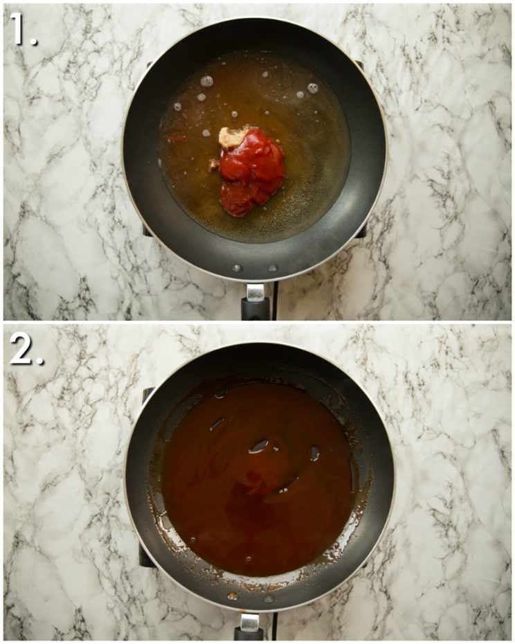 How to make sweet and sour sauce - 2 step by step photos