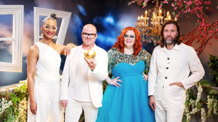 photo of crazy delicious judges and host