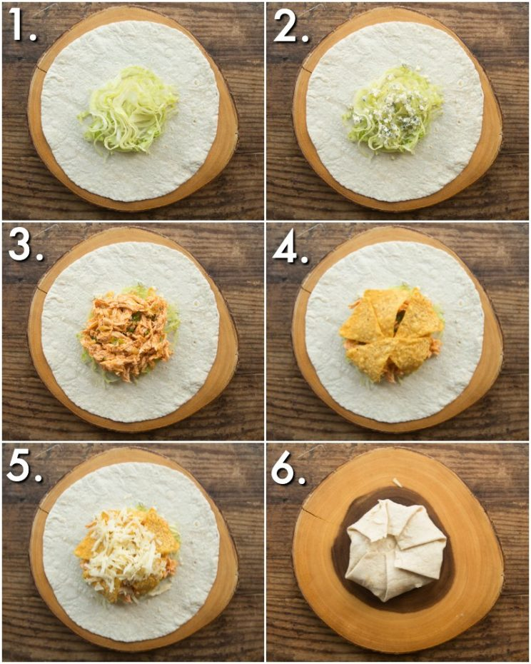 How to make Chicken Crunchwraps - 6 step by step photos