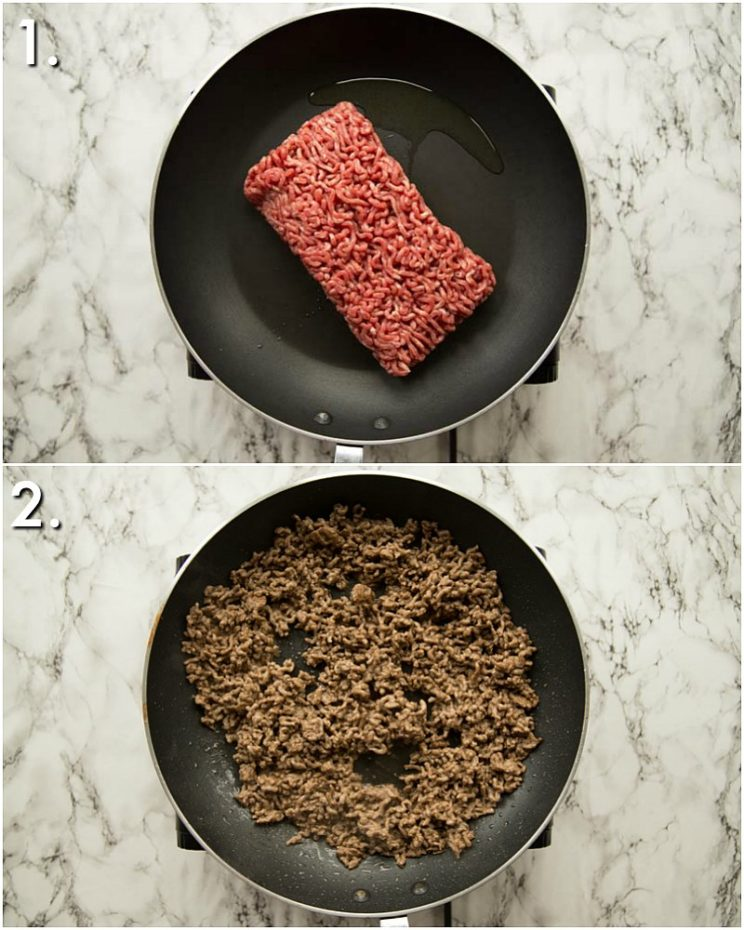 How to brown beef - 2 step by step photos