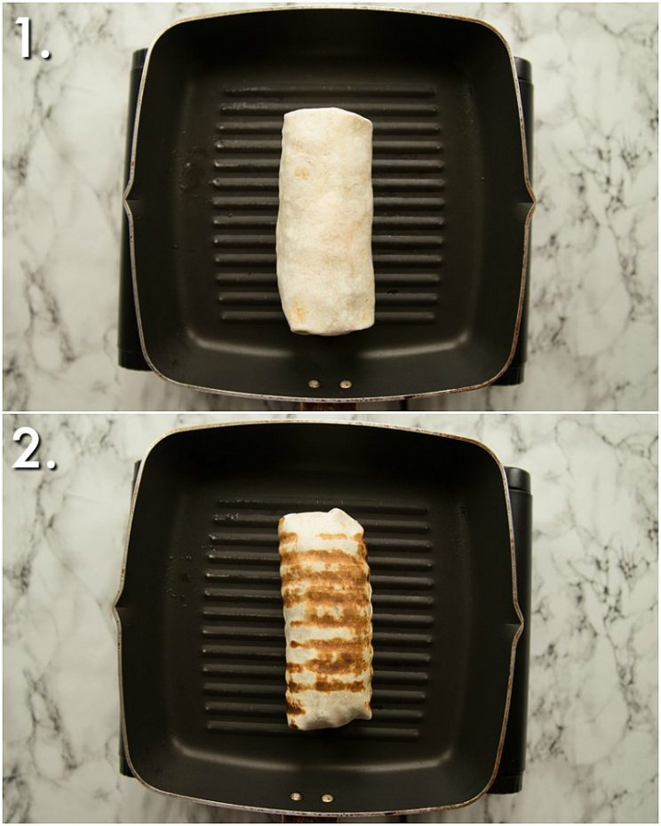 How to grill burritos - 2 step by step photos