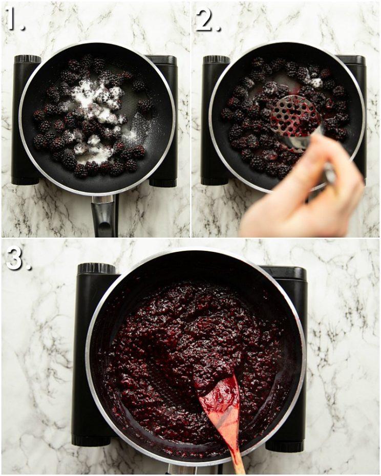 How to make blackberry jam - 3 step by step photos