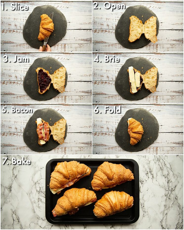 How to make filled croissants - 7 step by step photos