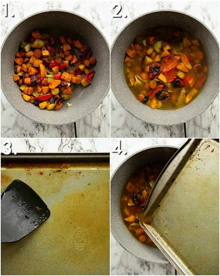 How to make roasted vegetable soup - 4 step by step photos