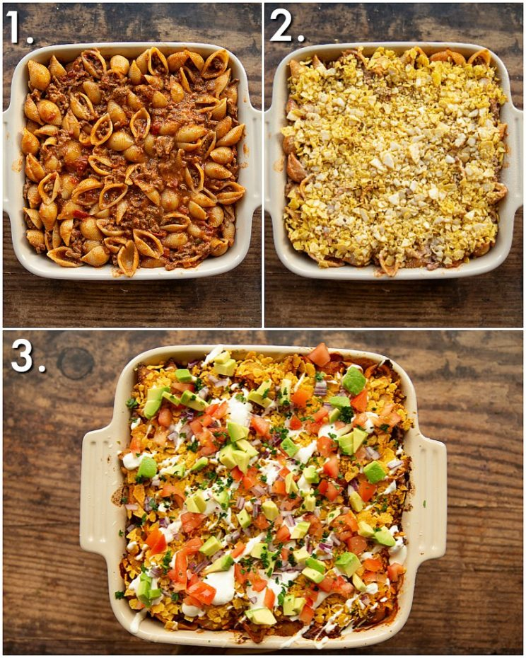 How to bake taco pasta - 3 step by step photo