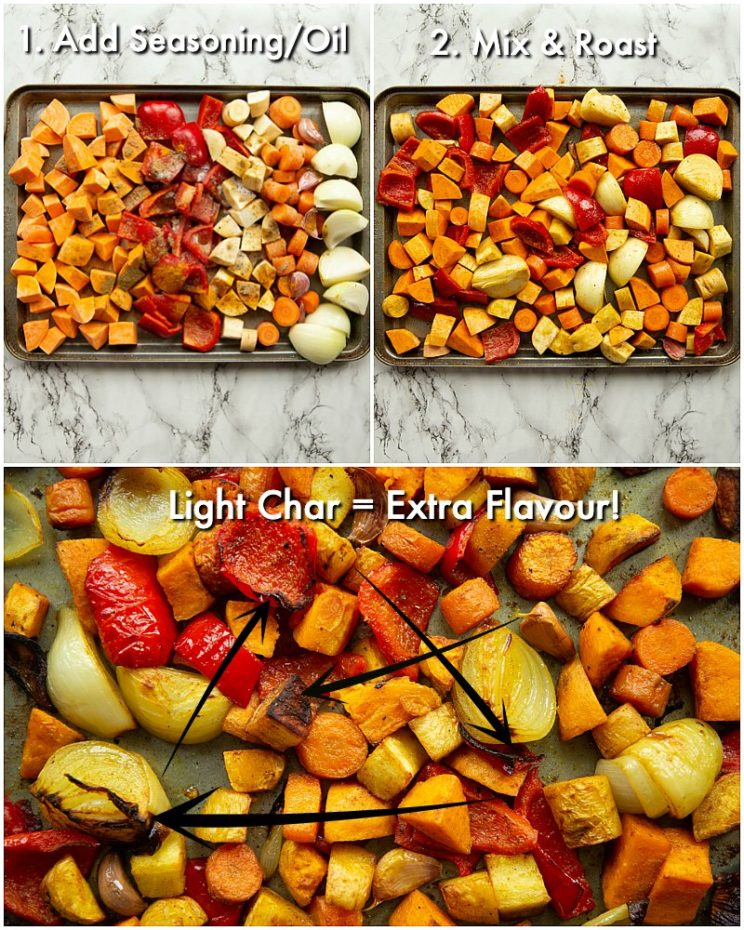 How to roast vegetables - 3 step by step photos