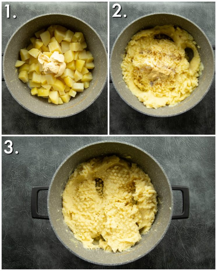 How to make cheesy mashed potato - 3 step by step photos