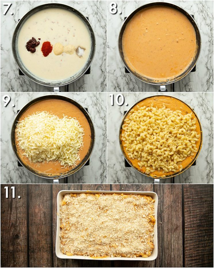 How to bake chipotle mac and cheese - 5 step by step photos