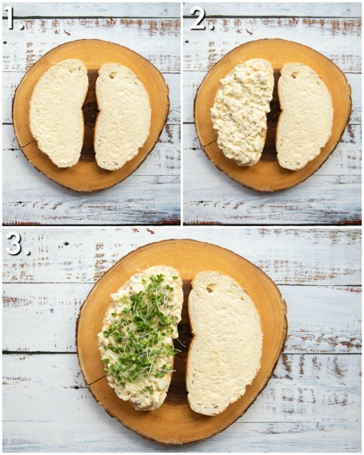 How to make egg mayo sandwiches - 3 step by step photos