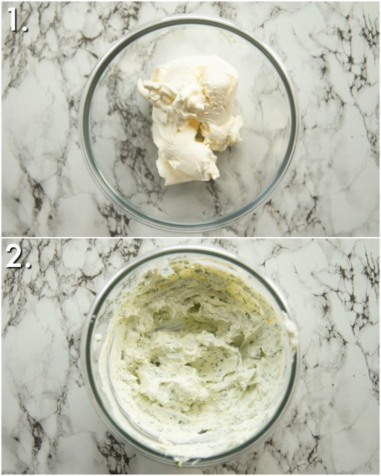 How to make herb cream cheese - 2 step by step photos
