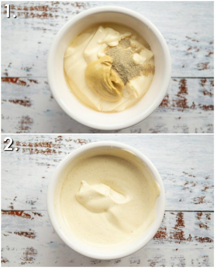 How to make mustard mayo - 2 step by step photos