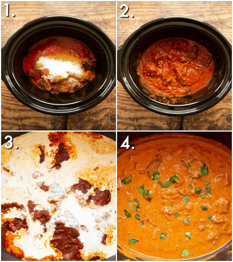 How to make slow cooker chicken curry - 4 step by step photos