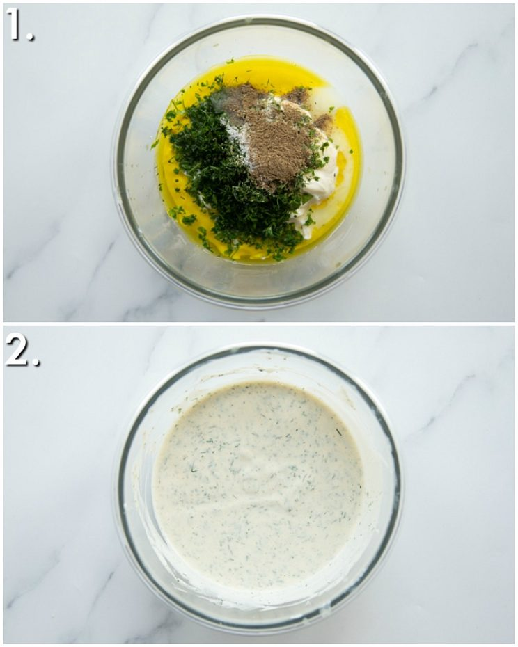 How to make creamy tuna pasta salad dressing - 2 step by step photos
