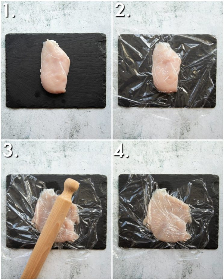 How to pound chicken - 4 step by step photos