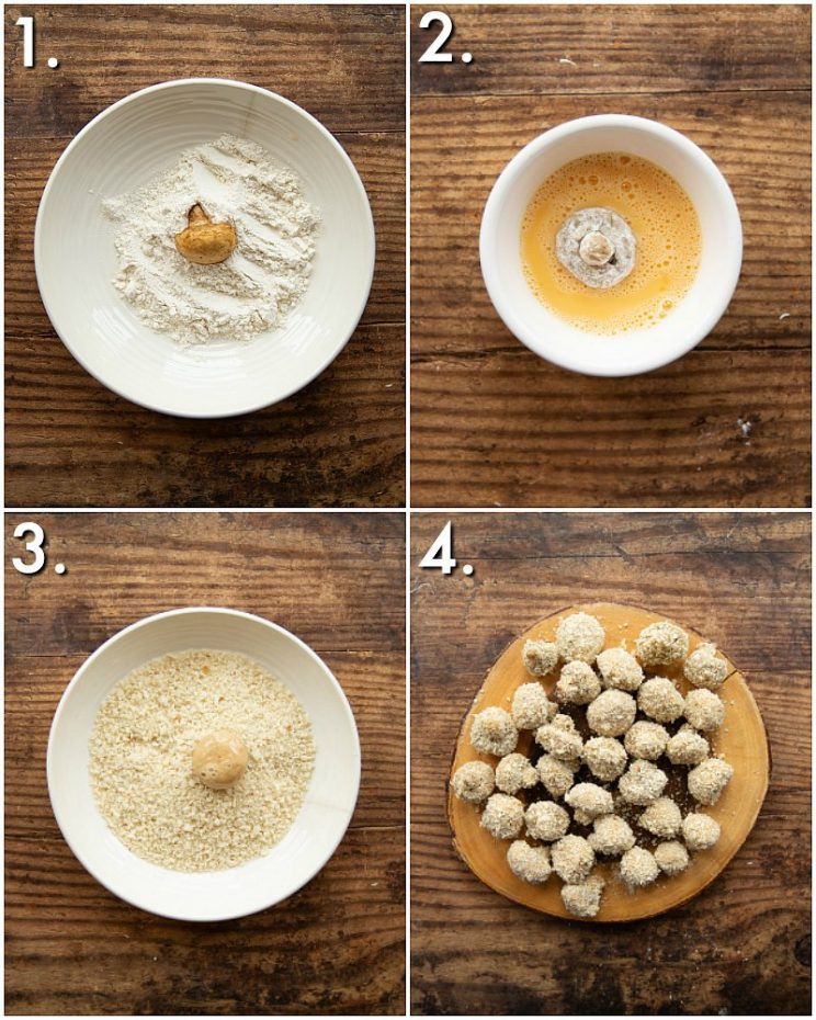 How to bread mushrooms - 4 step by step photos