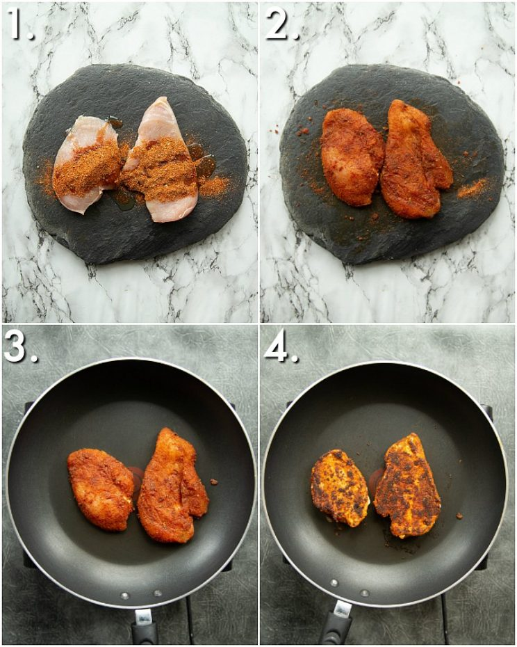 How to make burrito chicken - 4 step by step photos