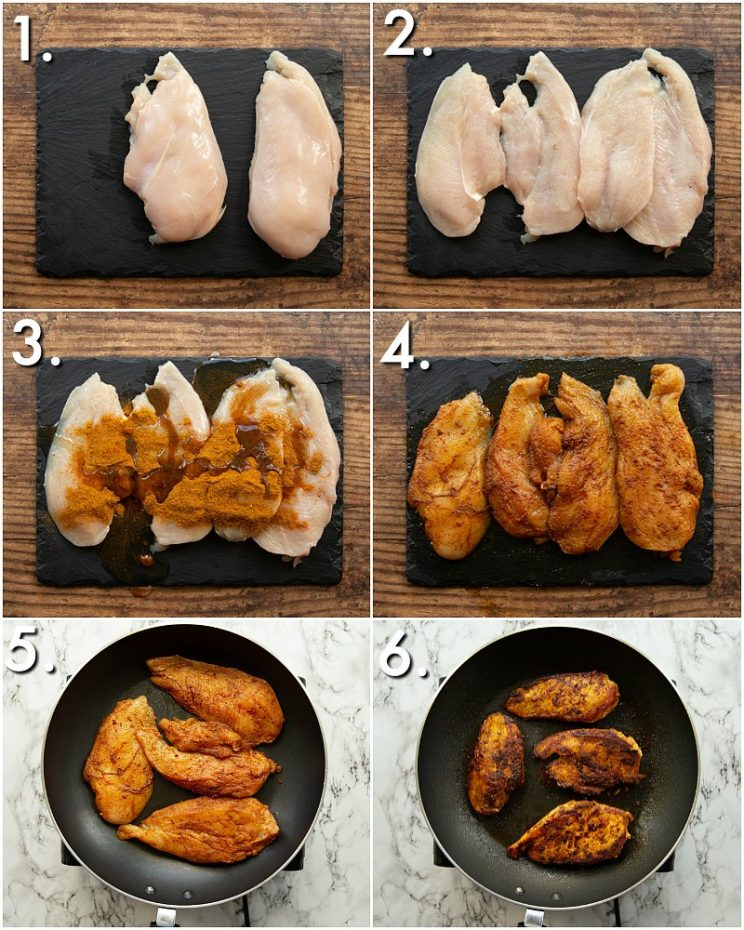 How to make chicken tikka breast - 6 step by step photos