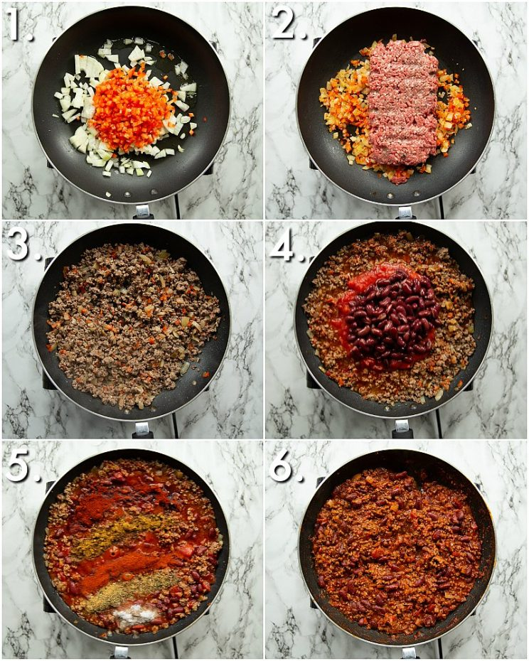 How to make Chili - 6 step by step photos