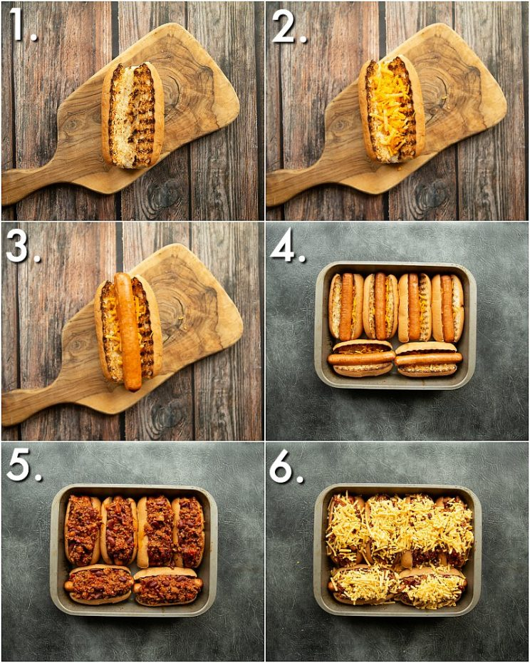 How to make Chili cheese dogs - 6 step by step photos
