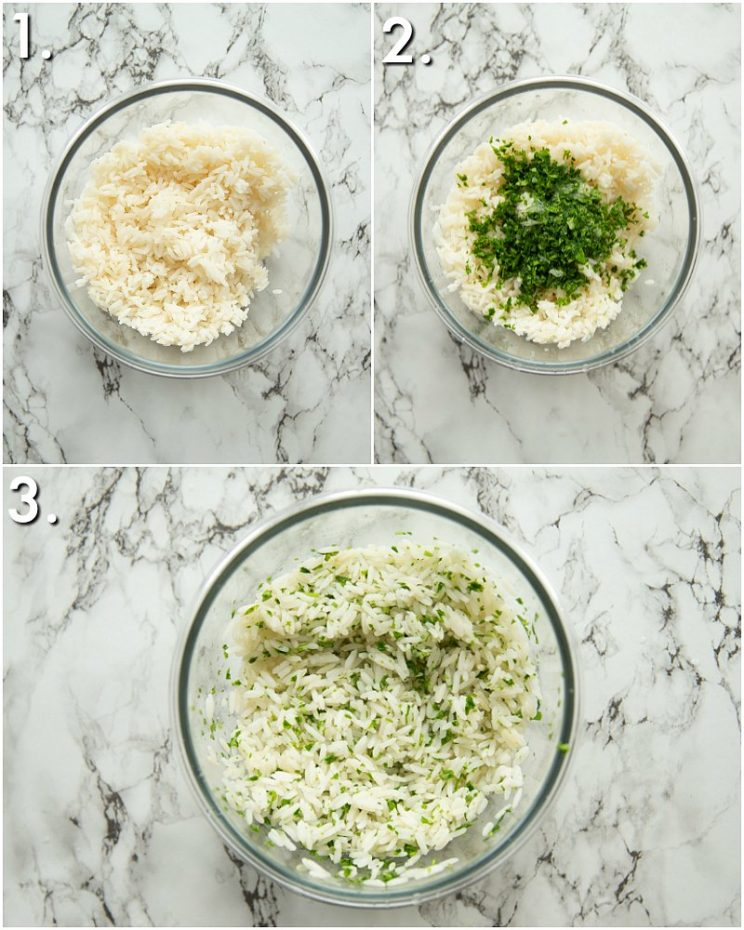 How to make cilantro lime rice - 3 step by step photos