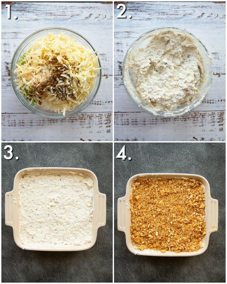 How to make jalapeño popper dip - 4 step by step photos