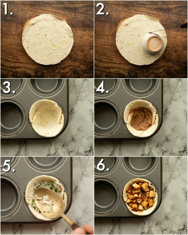 How to make mini burritos - 6 step by step photos
