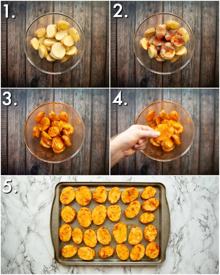 How to make spicy potatoes - 5 step by step photos