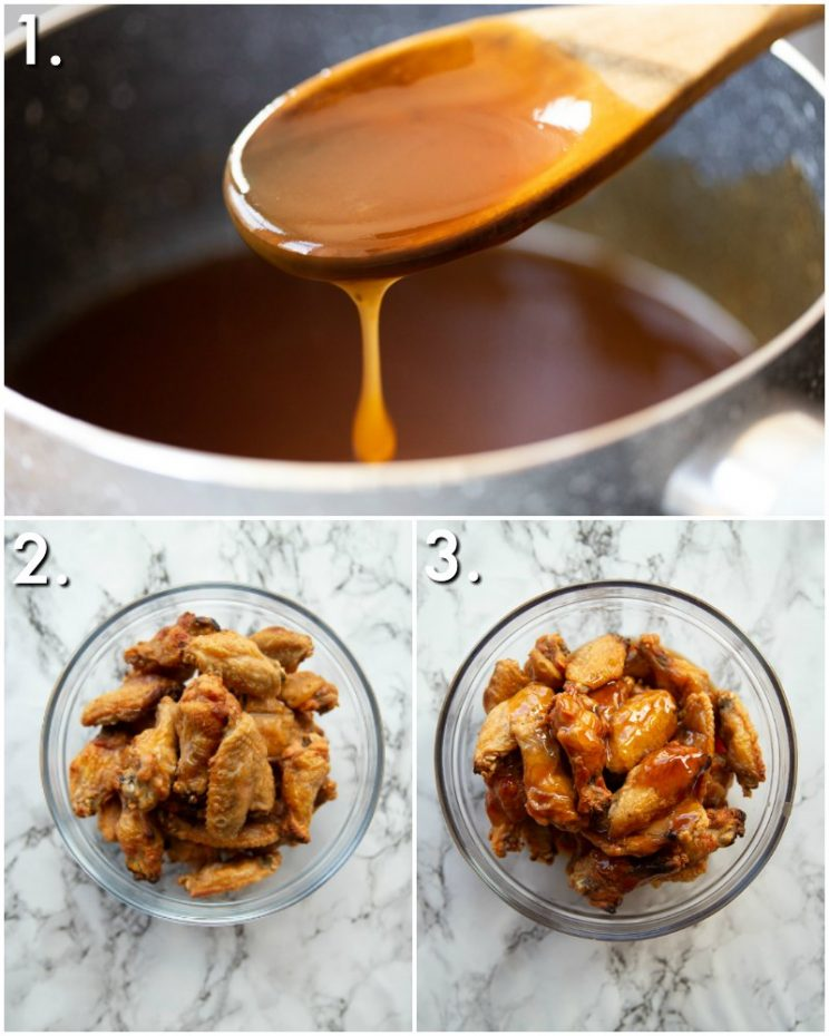 How to make sweet and sour chicken wings - 3 step by step photos