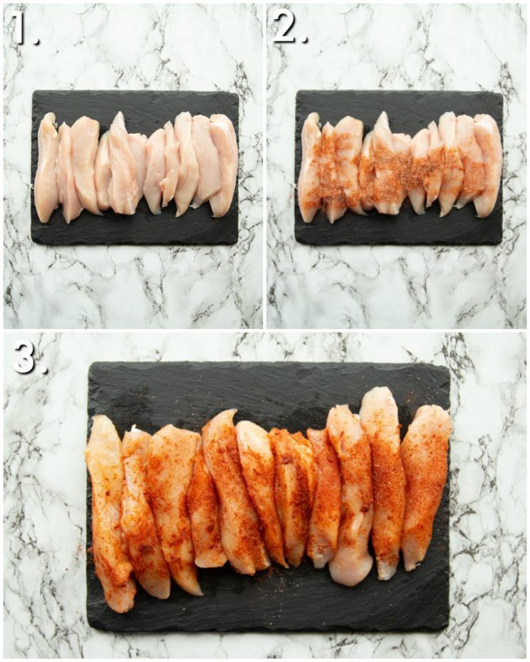 How to season chicken tenders - 3 step by step photos