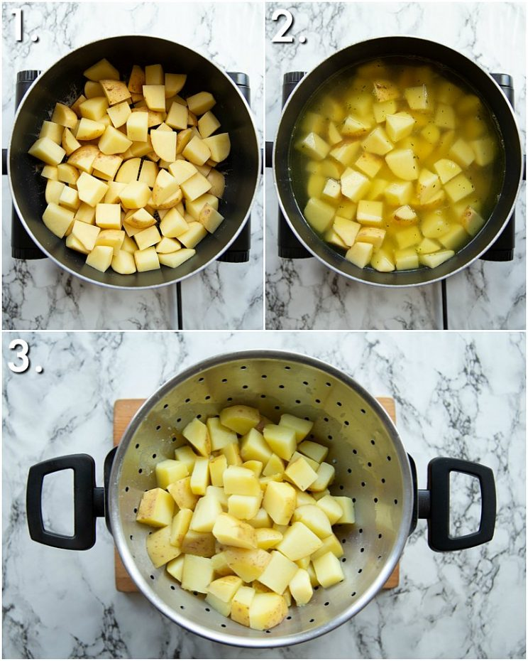 how to make Chicken broth boiled potatoes - 3 step by step photos