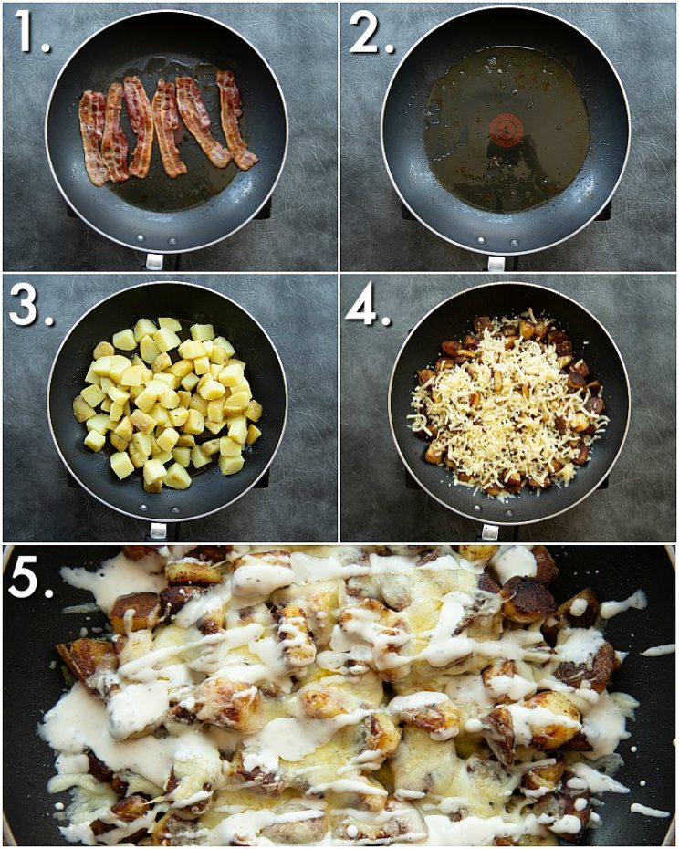 How to make cheesy ranch potatoes - 5 step by step photos