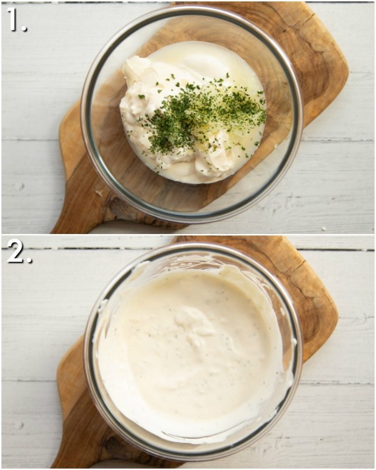 How to make onion and garlic dip - 2 step by step photos