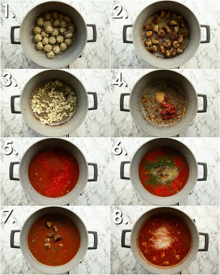 How to make meatballs and rice - 8 step by step photos