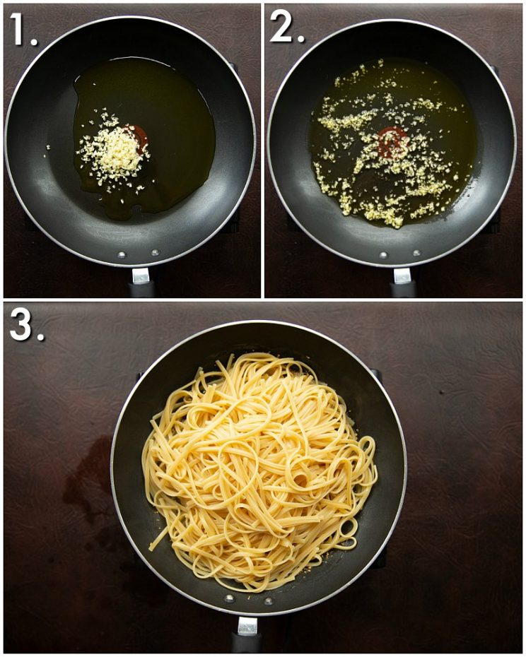 How to make bruschetta pasta - 3 step by step photos