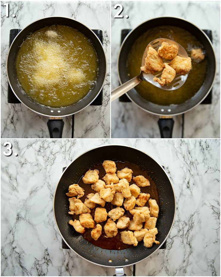 How to make honey sriracha chicken - 3 step by step photos