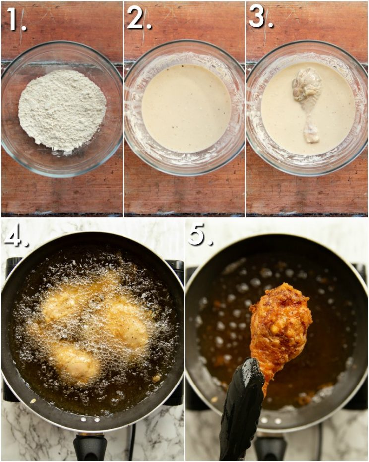 How to fry Thai fried chicken - 5 step by step photos