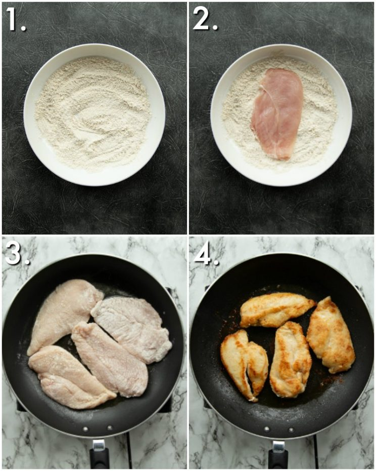 4 step by step photos of How to make garlic chicken breast