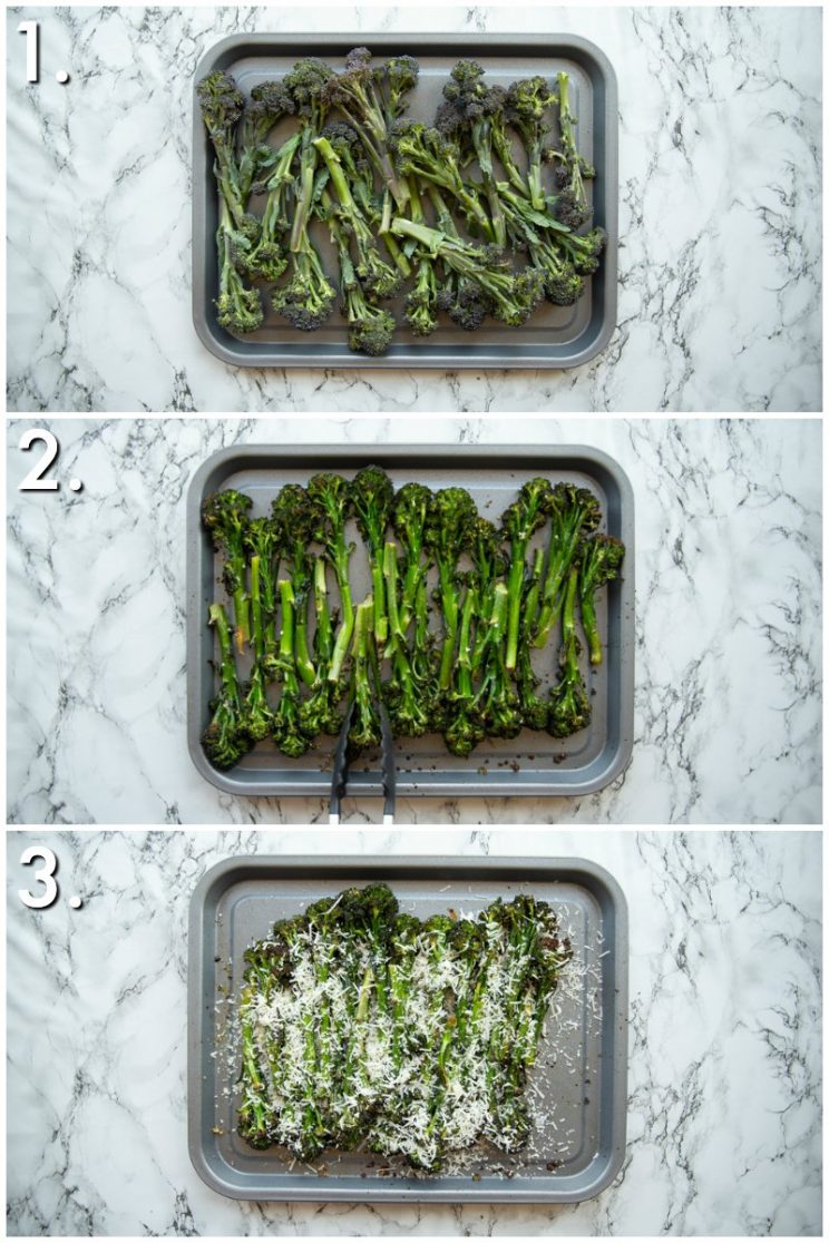 How to roast broccolini - 3 step by step photos